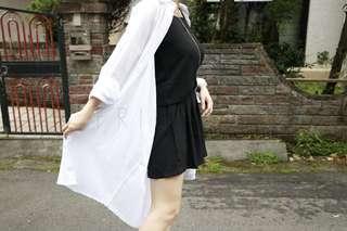 🚚 白色棉罩衫