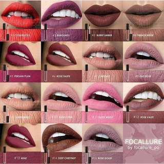 🚚 FREE Doorsteps Delivery 【AUTHENTIC INSTOCK】  Focallure Soft Matte Liquid Lipstick ✤✤ Delivery : FREE Doorsteps Delivery 【4-5 Working Days】 TopUp $4 For Faster Doorstep Delivery 【2-3 Working Days】