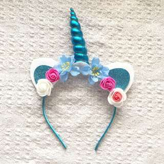 Girls' Blue Unicorn Hairband (6-12 years old)