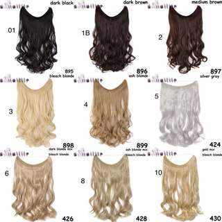 20 inches Invisible Wire No Clips in Hair Extensions