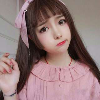 🚚 ♡Cosplay 網美公主切空氣瀏海假髮♡