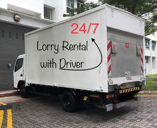 14FT Tailgate lorry rental with driver.