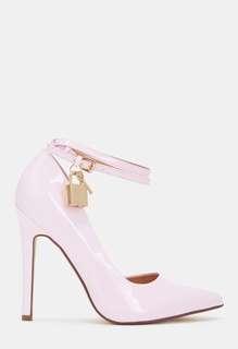 JustFab Pink Lock Heels Size 6