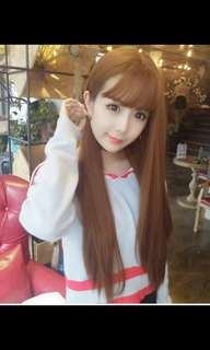 Preorder korean fluffy Air bang straight ladies wig *waiting time 15 days after payment is made * chat to buy to order