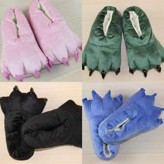 Pink Bear Claw Bedroom Shoes