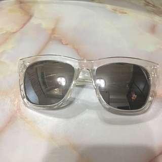 透明水晶感 鏡框 反光 太陽眼鏡 墨鏡