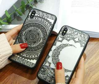 Soft Case Motif Henna for Smartphone