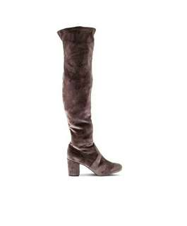 VELVET THIGH HIGH BOOTS (Over the knee boots)