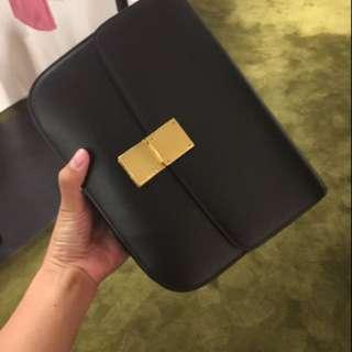 Celine box bag 黑色 / 紅色代購