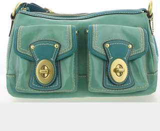 Preloved COACH F13371 Pond Green Patent Leather Legacy Handbag