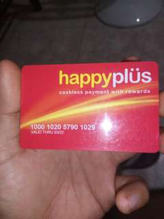 Happy plus card