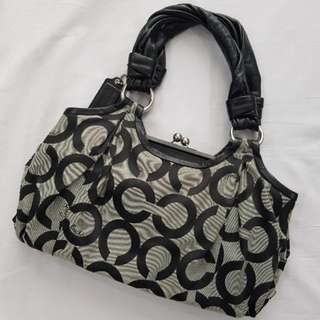 Original Coach Parker Op ART Satchel Bag #13441