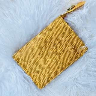 Louis Vuitton Epi Leather (Yellow) Pouch