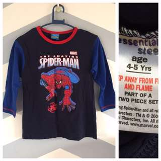 Essential Sleep Spiderman Longsleeve Shirt