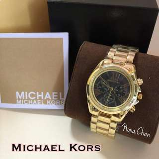 Mk Watch Gold BlackFace