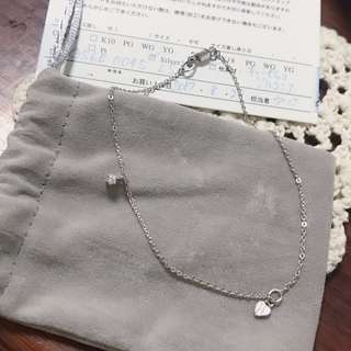 va vendome aoyama 純銀單鑽手腳鍊