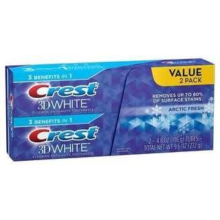 Crest whitening toothpaste