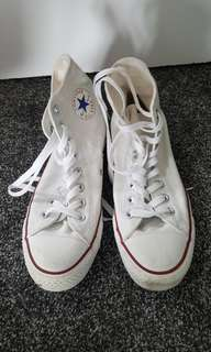 Converse white hig tops