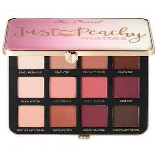 🚚 INSTOCK Too Faced Just Peachy Matte Palette