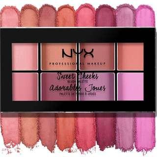 🚚 INSTOCK NYX Sweet Cheeks Blush Palette