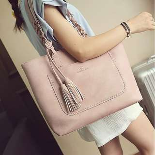 Braided Tassel Tote Bag