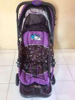 Stroller + Bouncer Pliko Grande ungu