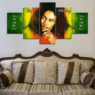 Bob Marley And Quotes Canvas Print