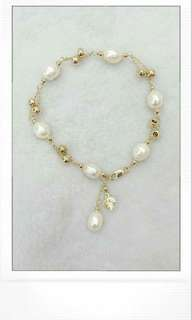 FRESH WATER PEARL WITH 10 K CHAIN ☺