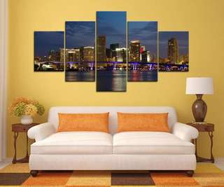 Miami Night Canvas Print