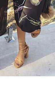 Tony Bianco Nude Lace Up Heels