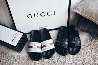 Gucci Print Women Rubber Slide Sandal