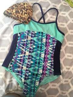 Walmart Swim Suit + FREE swim cap