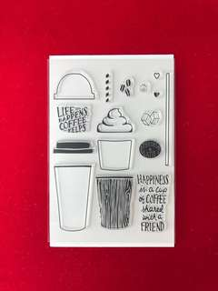 Coffee #3 scrapbook clear stamps