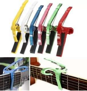 Folk Acoustic Electric Guitar Capo Trigger Key Clamp Change Single-handed Guitar Parts Green