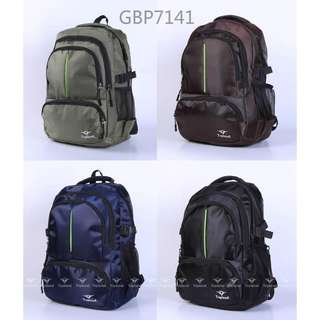 """Topland 18"""" multi compartments front pocket with zipper side pockets back padded sports type backpack 7141"""