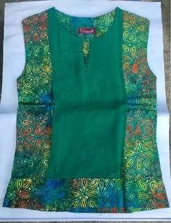 Batik Pria Tampan Blouse in Green