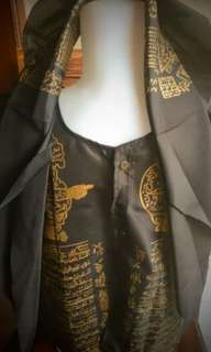 rompi kaligrafi semar satu set dengan ikat kepala