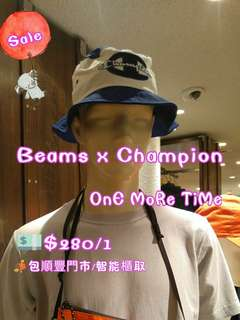 SaLe🈹Beams x Champion 漁夫帽