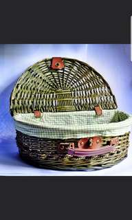 Retro picnic basket
