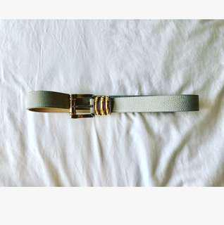Streets Ahead Los Angeles M Light Grey Suede Belt by