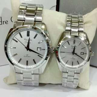 Jam Tangan Couple Alexandre Christie AC3010 ORIGINAL Black