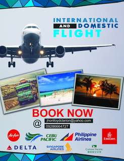 International and Domestic Flight (just inquire)