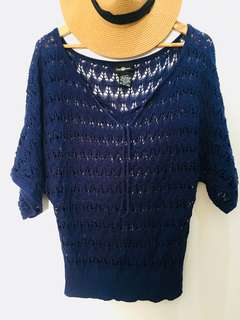 It's Our Time Open Knit Sweater Topper