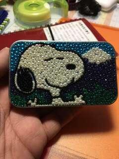 日本富士山 Snoopy 閃珠鐵盒