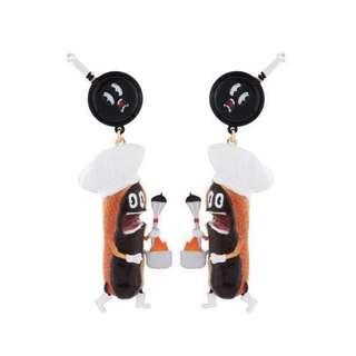 N2 dessert tea earrings chocolate 朱古力 耳環 mushroom