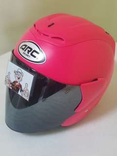 0507*** ARC RITZ Helmet Matt Pink v Chrome Visor For Sale 😁😁Thanks To All My Buyer Support 🐇🐇 Yamaha, Honda, Suzuki