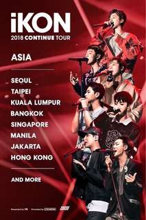 TICKETING SERVICE IKON 2018 CONTINUE TOUR IN MALAYSIA (IKONinMY)