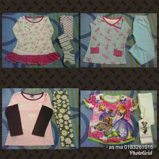 all inc pos combo 8 pcs girl 3-4 years clothes