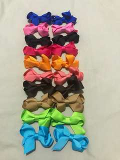 10pairs assorted color covered clip