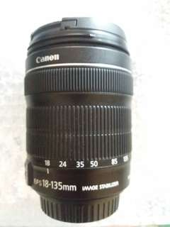 Lensa canon 18-135mm EF-S 3-5.5-6 IS STM